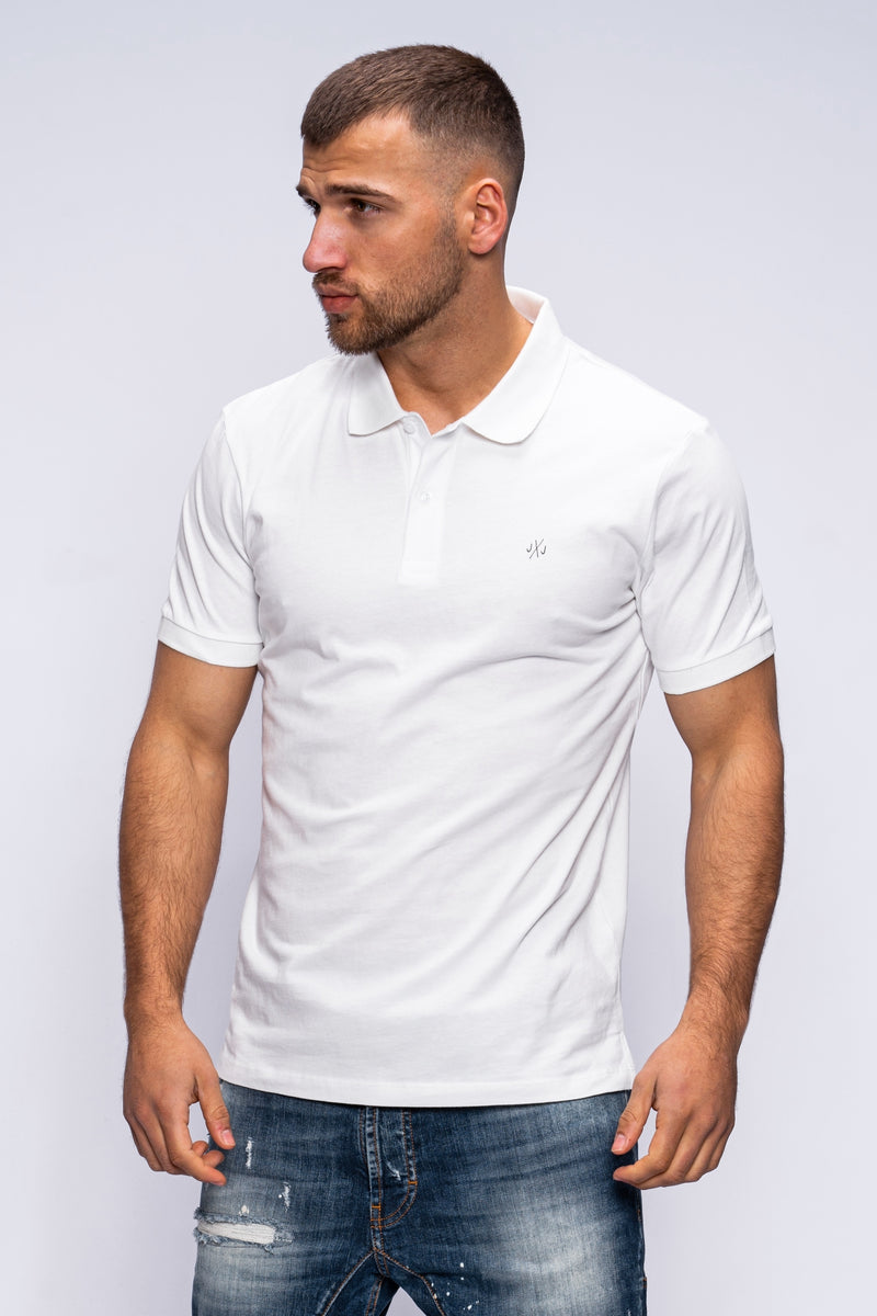 Jack & Jones Polo T-shirt TAXIS White
