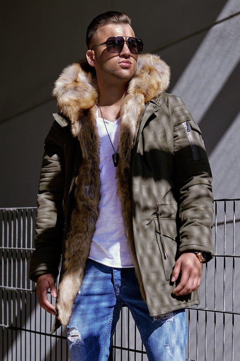 Men's Winter Parka Jacket Green/Military 7109N