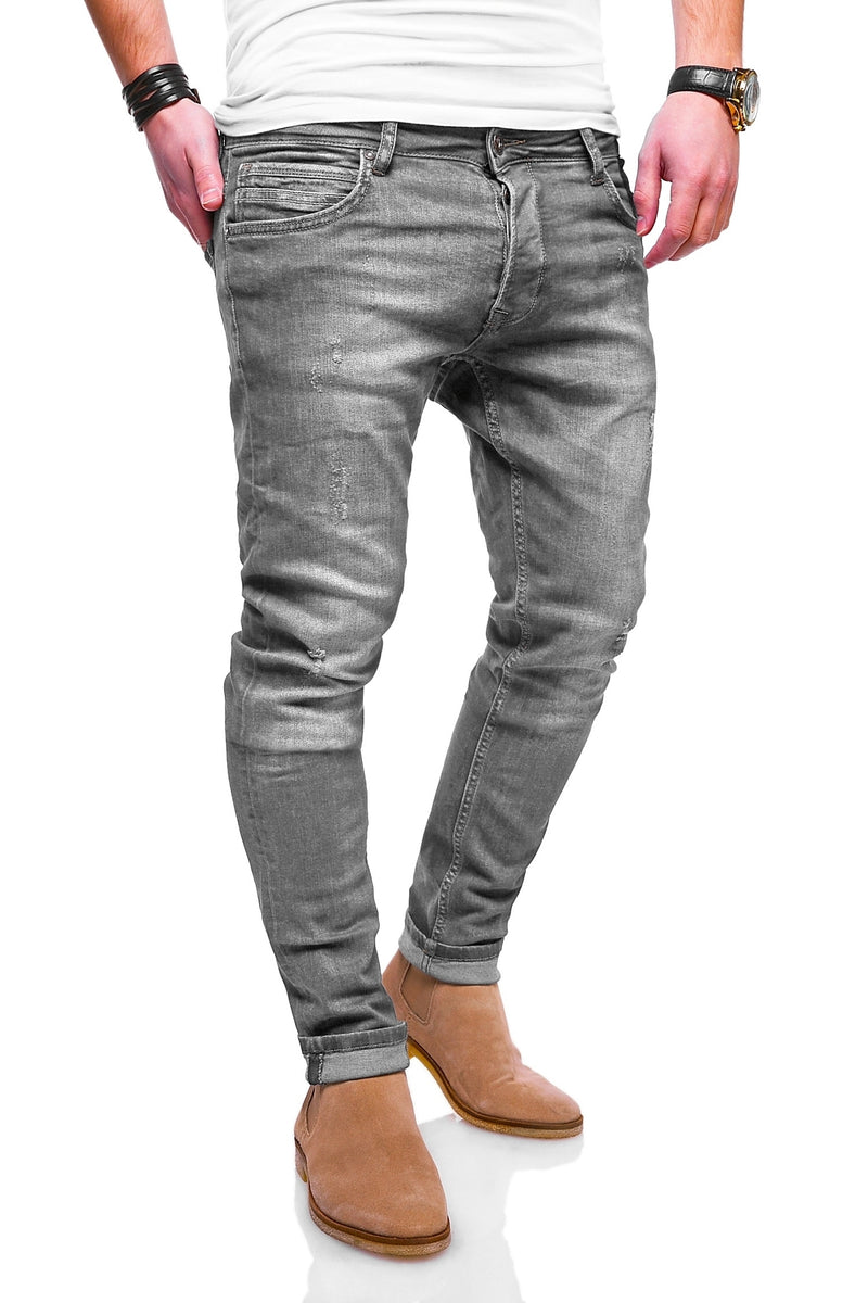 Men's Denim Slim Fit Jeans Grey 3502