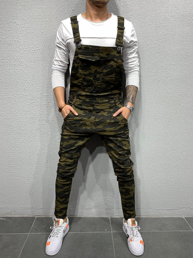 Men's Denim Overalls Camouflage 50598