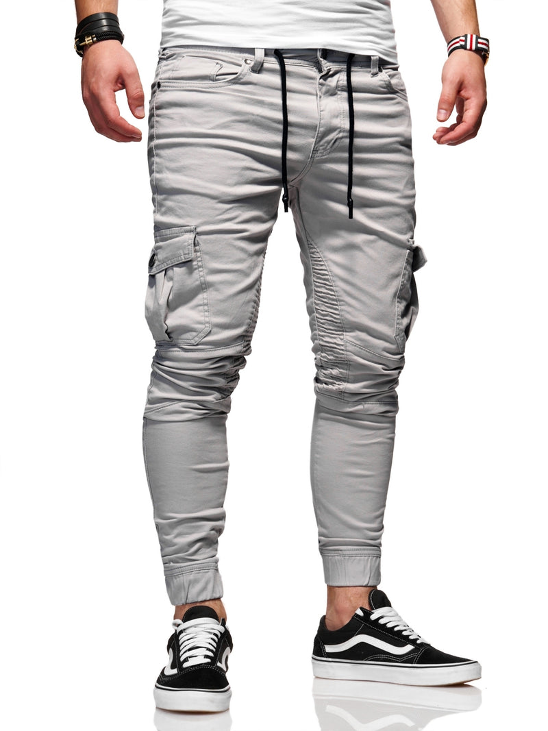 Men's Cargo Jogger Pants Grey 3207-S