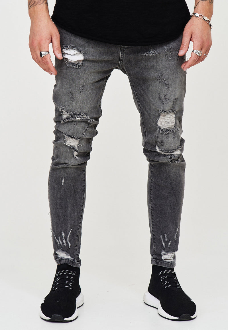 Destroyed Jeans grey 3667