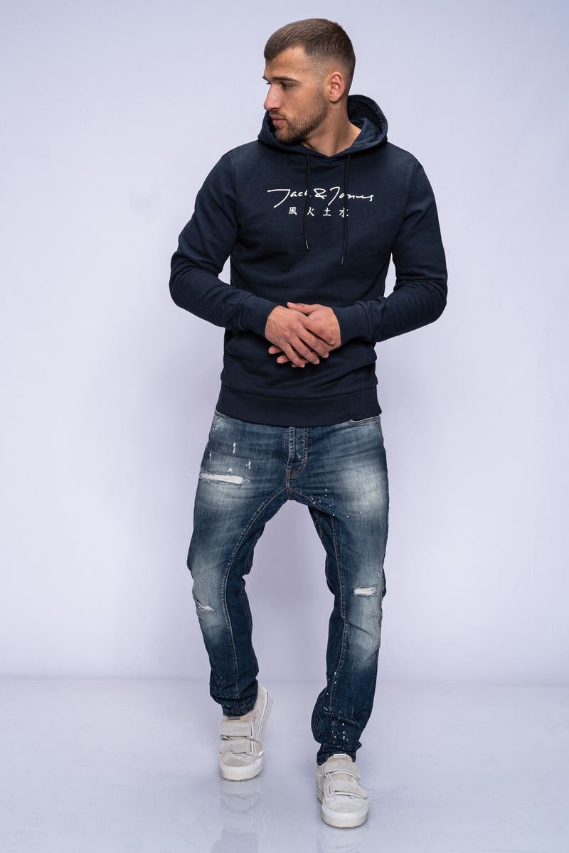 Jack & Jones Hoodie SIGN Navy