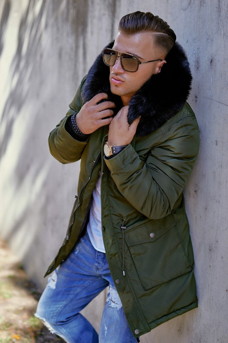 Men's Winter Parka Jacket Green/Military 7132
