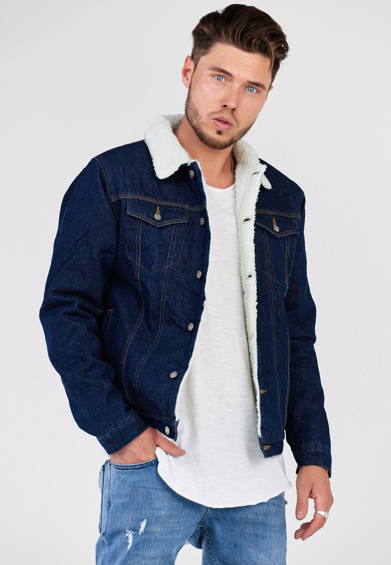 Denim Jacket Teddy-Fur Blue 21020