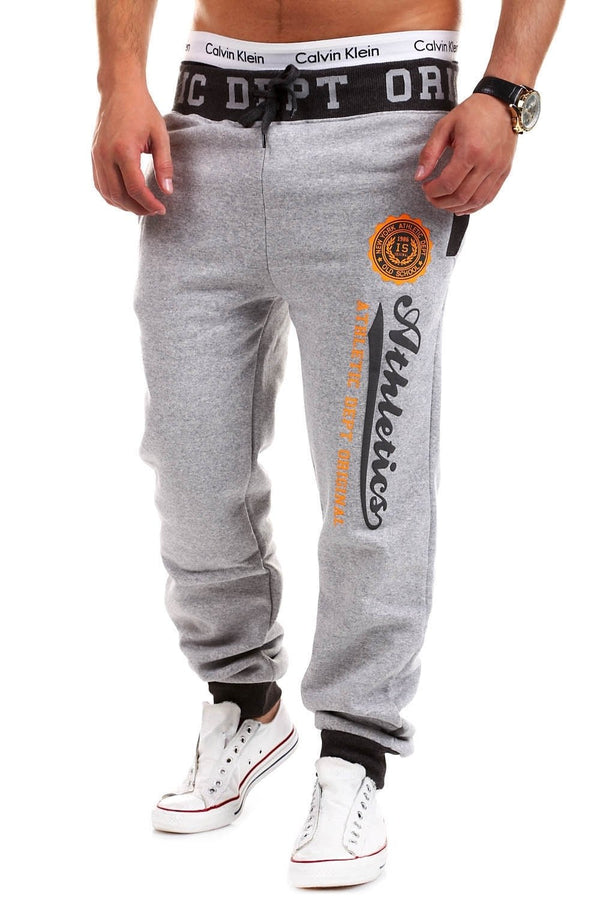 Men's Training Pants Sweatpants Grey-Darkgrey 49