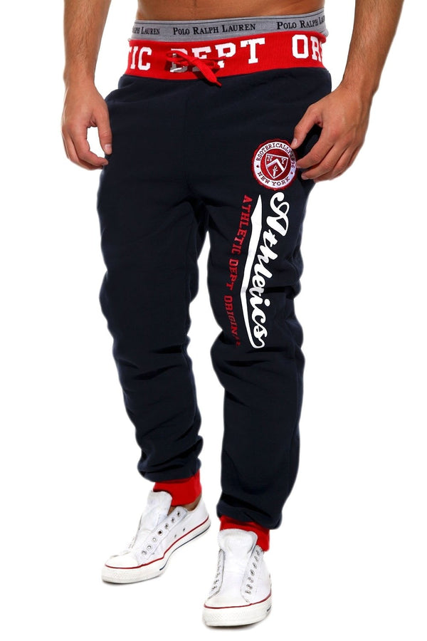 Men's Training Pants Sweatpants Navy-Red 49