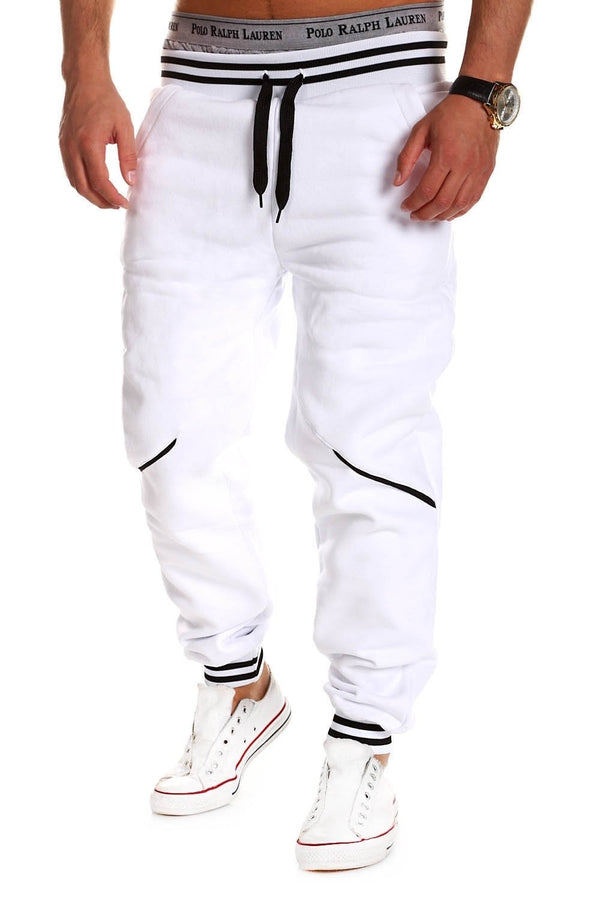 Men's Training Pants Sweatpants White-Black 52