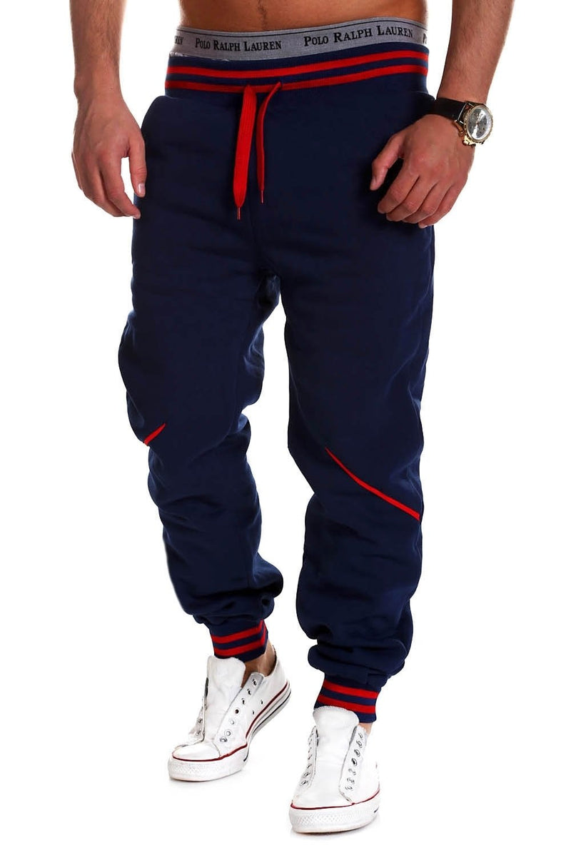 Men's Training Pants Sweatpants Navy-Red 52