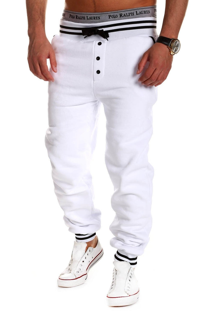 Men's Training Pants Sweatpants White 53