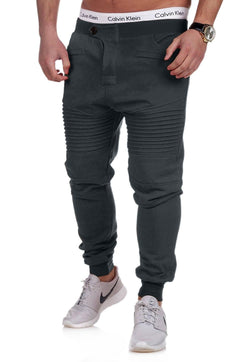 Men's Biker Track Pants Sweatpants Darkgrey 2070