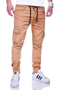 Men's Cargo Jogger Pants Beige 3207