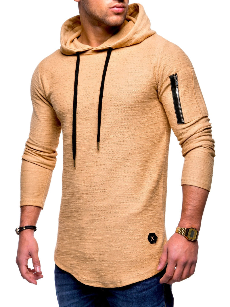 Men's Sweater Jumper Hoodie Beige 7422