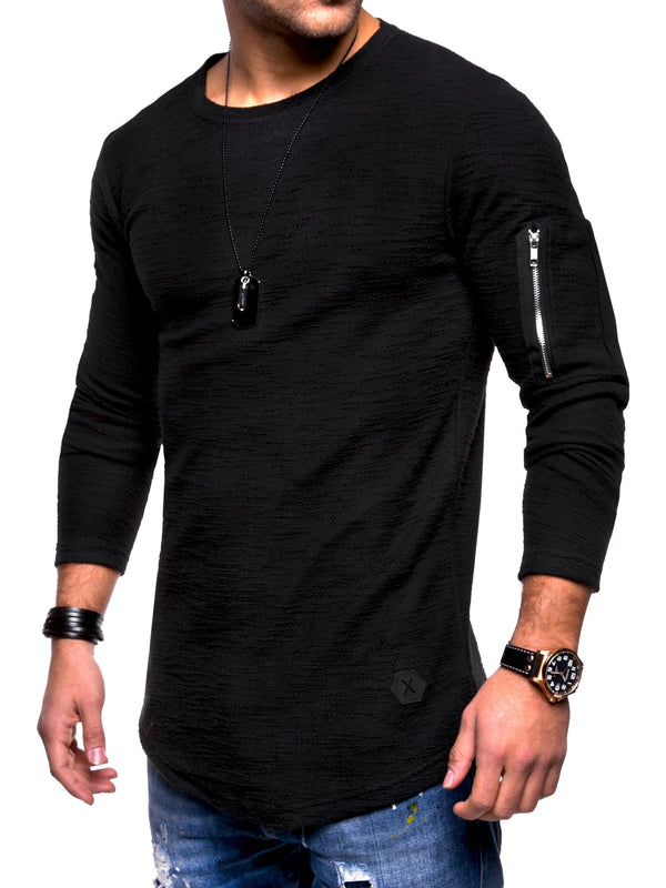 Men's Oversize Sweater Jumper Sweatshirt Black 7310