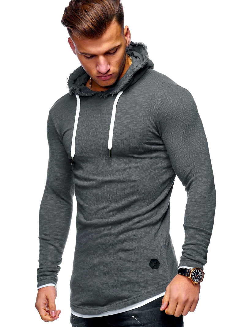 Men's Sweater Jumper Hoodie Oversize Darkgrey 7428