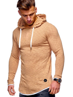 Men's Sweater Jumper Hoodie Oversize Beige 7428