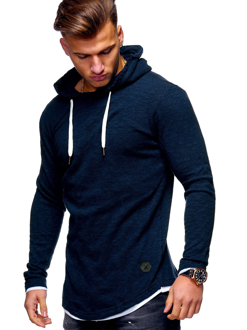 Men's Sweater Jumper Hoodie Oversize Navy 7428