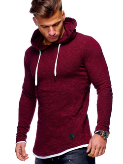 Men's Sweater Jumper Hoodie Oversize Red 7428