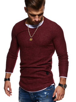 Men's 2in1 Knit Sweater Muscle Tee Red 7323