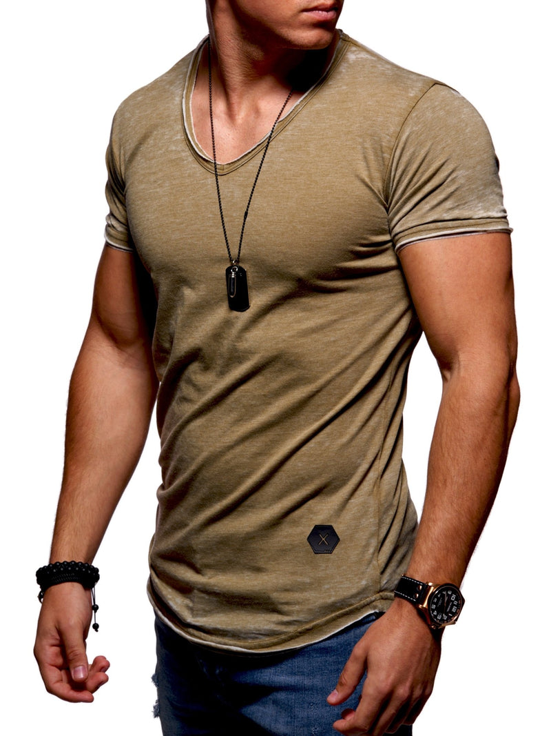 Men's Oversize Muscle Tee Green/Military 7106