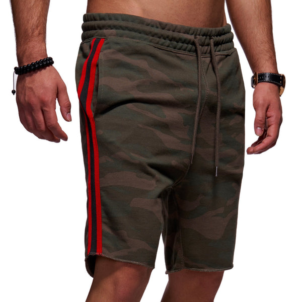 Men's Jack & Jones Sweat Shorts Stripe Camouflage JORTAPE