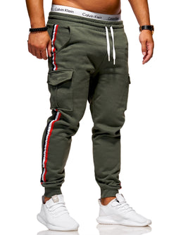Men's Cargo Track Pants Sweatpants Green/Military 1800