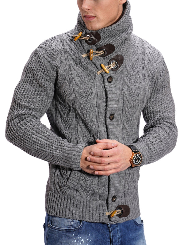 Men's Knit Sweater Jumper Grey MT-7705