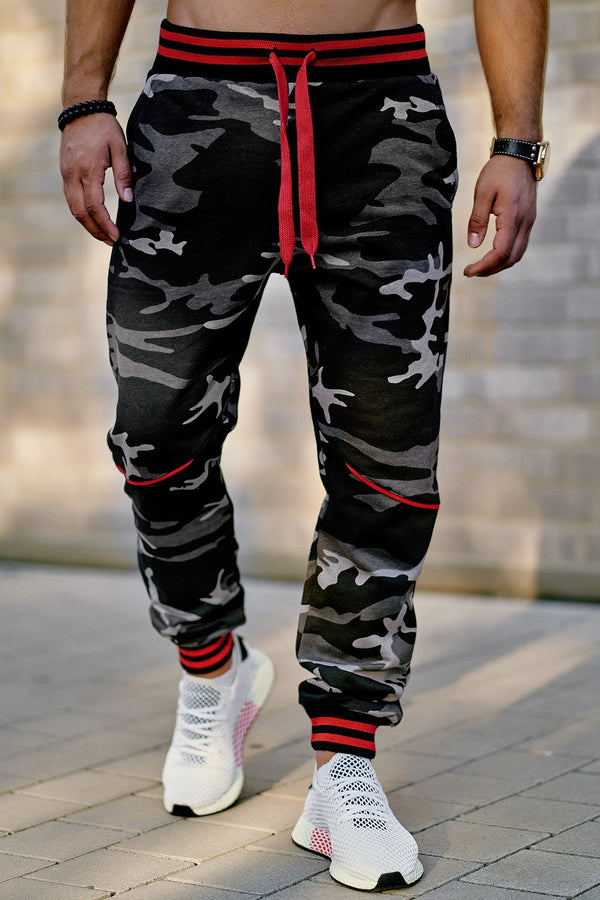 Men's Training Pants Sweatpants Camo-Black 52