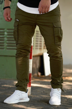 Men's Jack & Jones Cargo Jogger Pants Green/Military Paul CHOP
