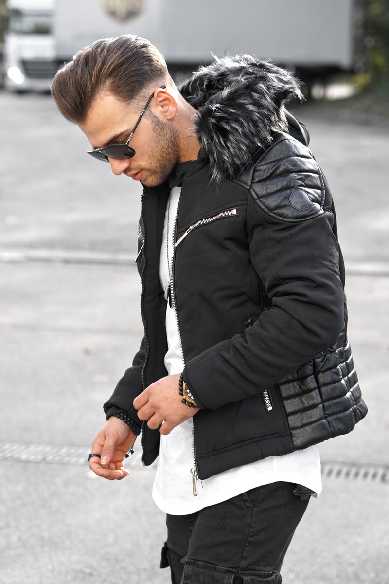 Men's Winter Jacket Black PH-018