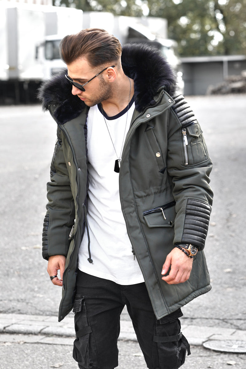 Men's Winter Parka Jacket Green/Military PH-019