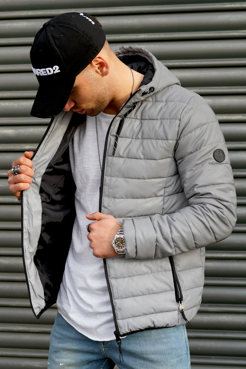 Men's Transitional Puffer Jacket REFLECTIVE Silver