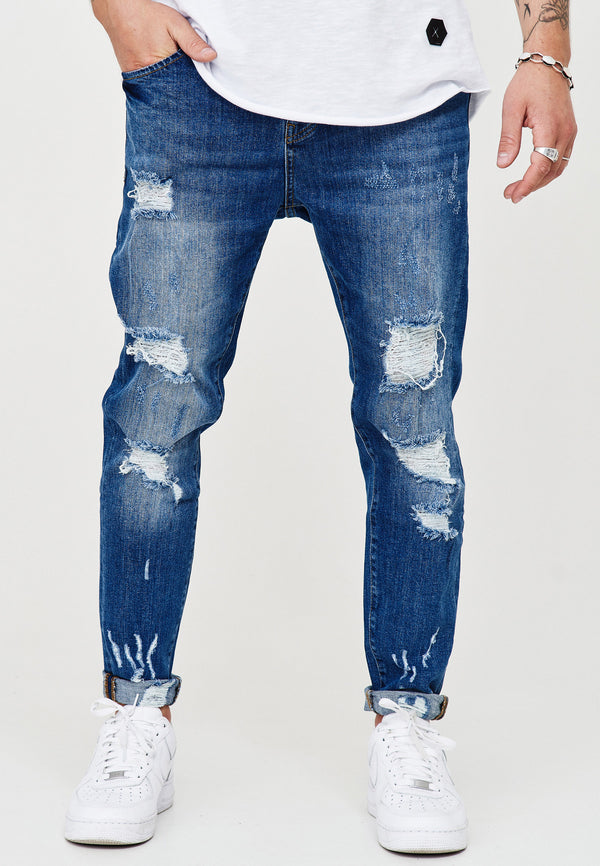 Destroyed Jeans blue 3667
