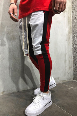 Track Pants in Contrasting Colors White 5049