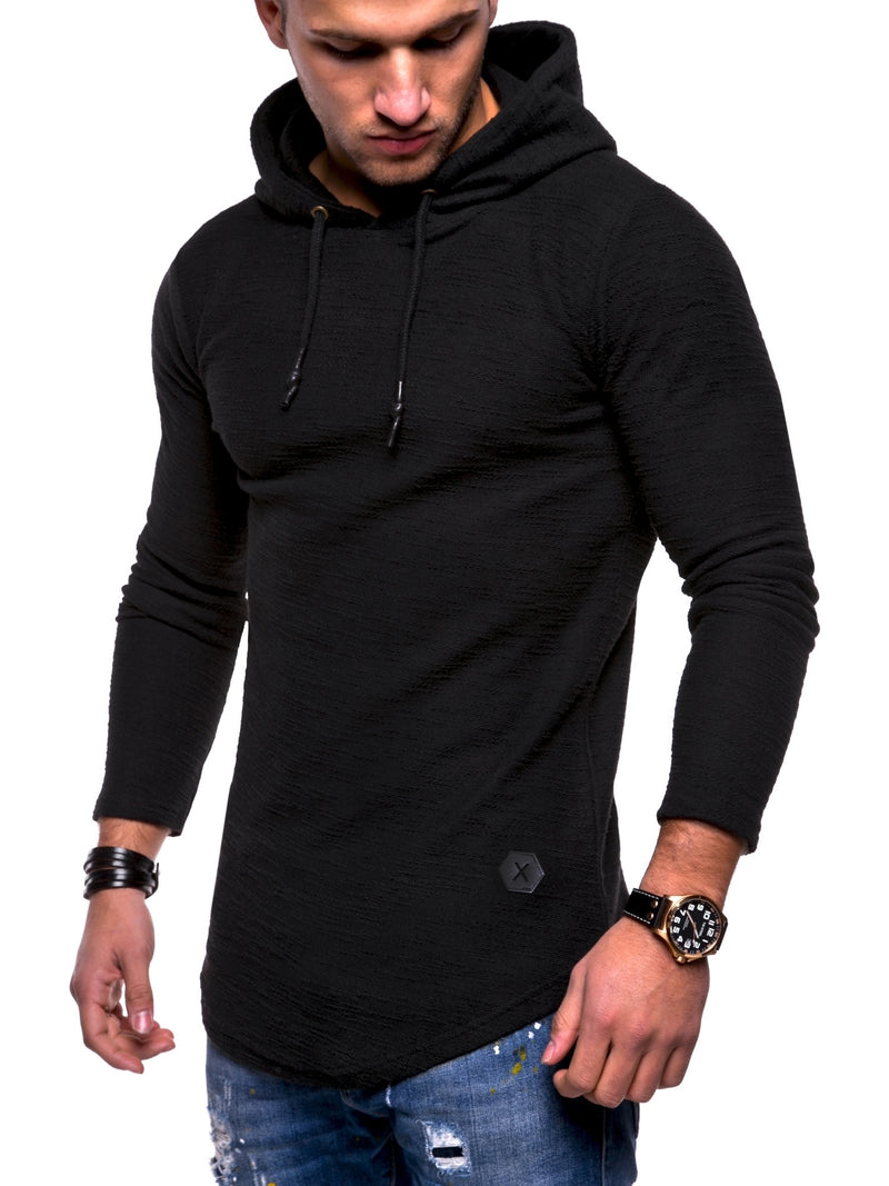 Men's Sweater Jumper Hoodie Black 7420