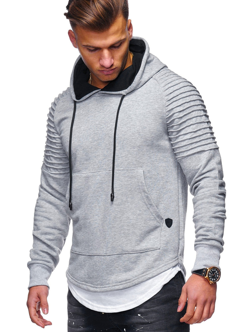 Men's 2in1 Biker Hoodie Grey 1156