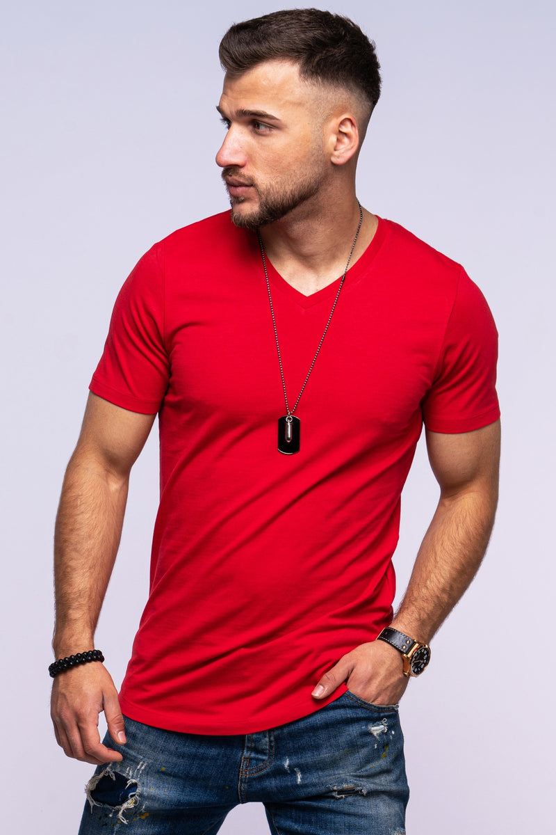 Tee INFINITY V-Neck red