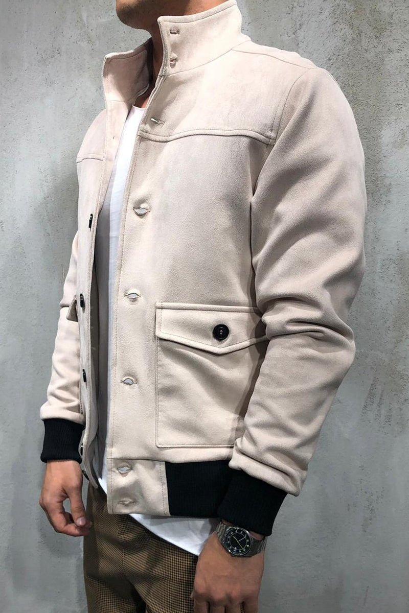Men's Light Jacket Beige 1001