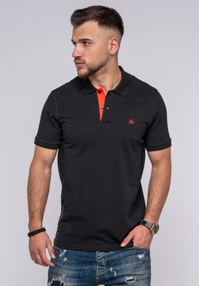 Jack & Jones Polo T-shirt INFINITY Black