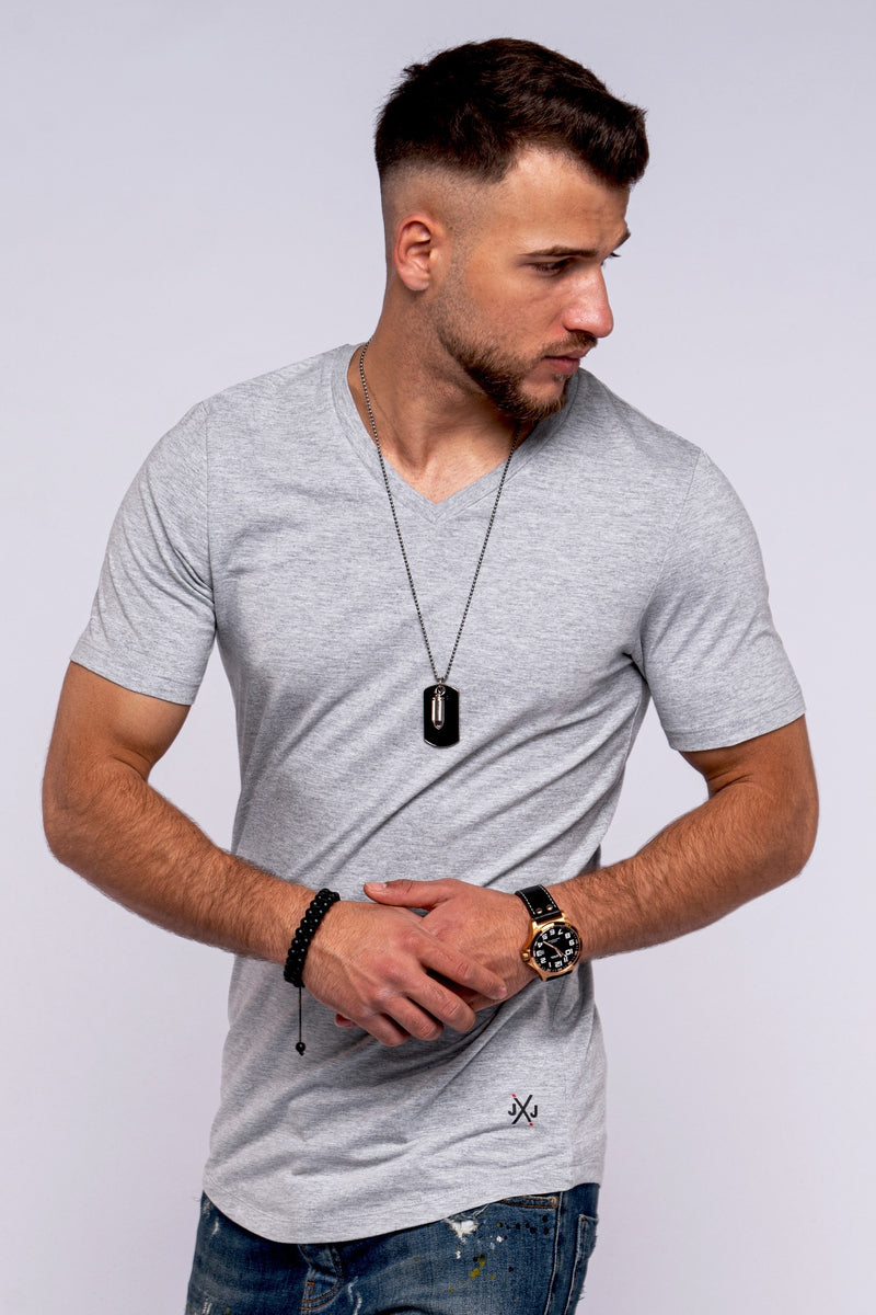 Tee INFINITY V-Neck Light grau