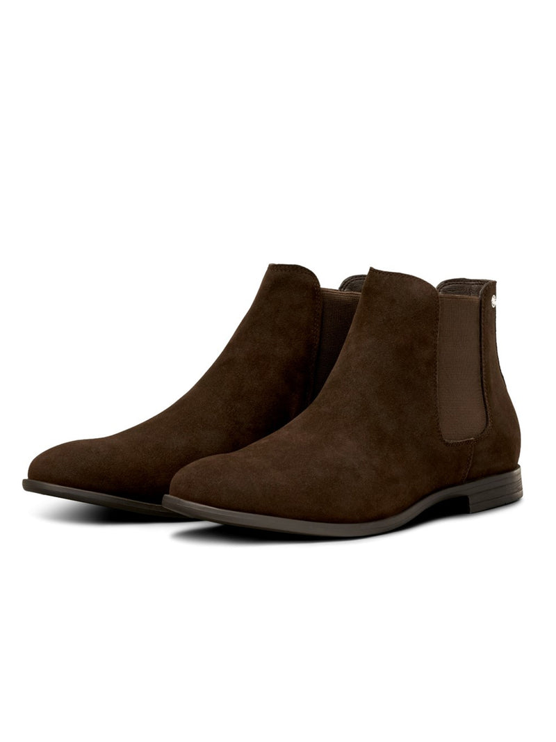 Men's Jack & Jones Boots Mitchell Synth Suede Dark Brown
