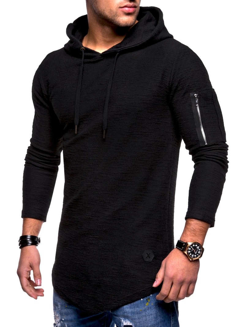 Men's Sweater Jumper Hoodie Black 7422