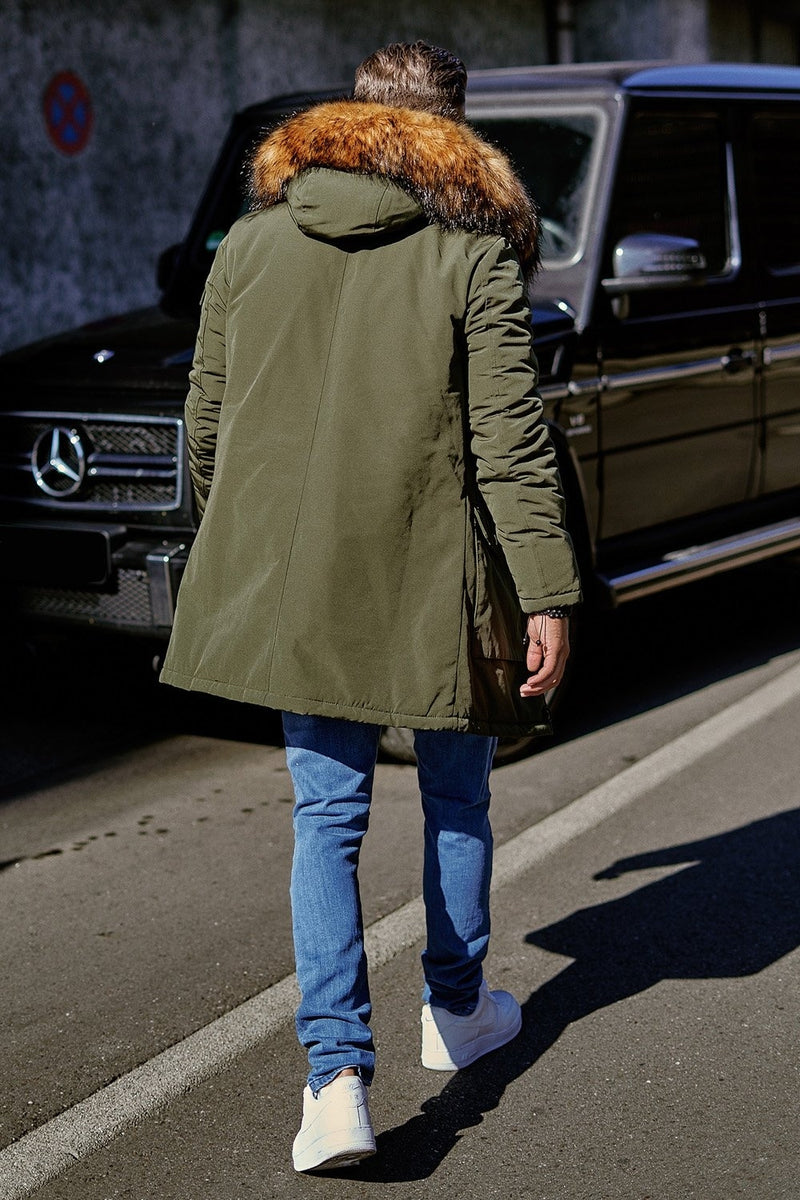 Men's Winter Parka Jacket Green/Military 7500