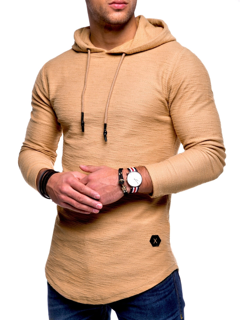 Men's Sweater Jumper Hoodie Beige 7420