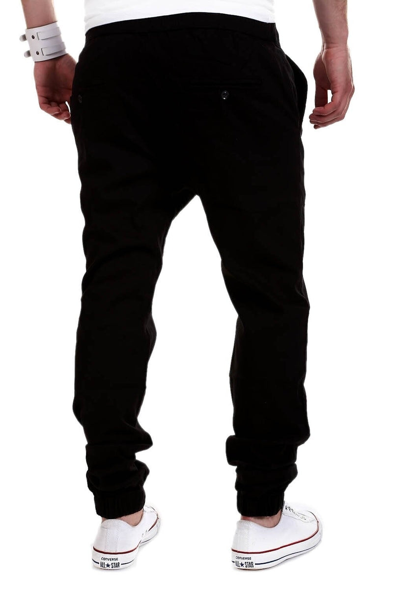 Men's Jogger Chino Pants Black 60