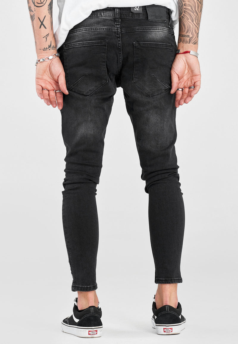 Destroyed Denim black 3591