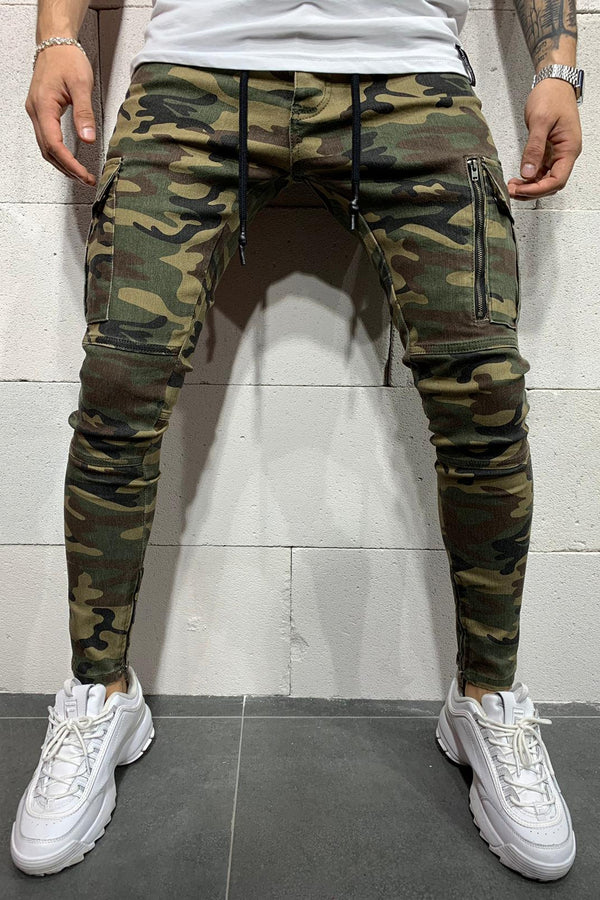 Men's Cargo Jogger Pants Camouflage B4784