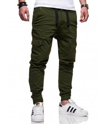 Men's Cargo Jogger Pants Green/Military T-18525