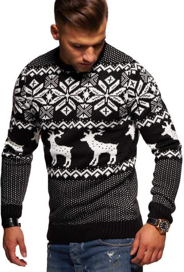 Men's Knit Sweater Black RS-1048