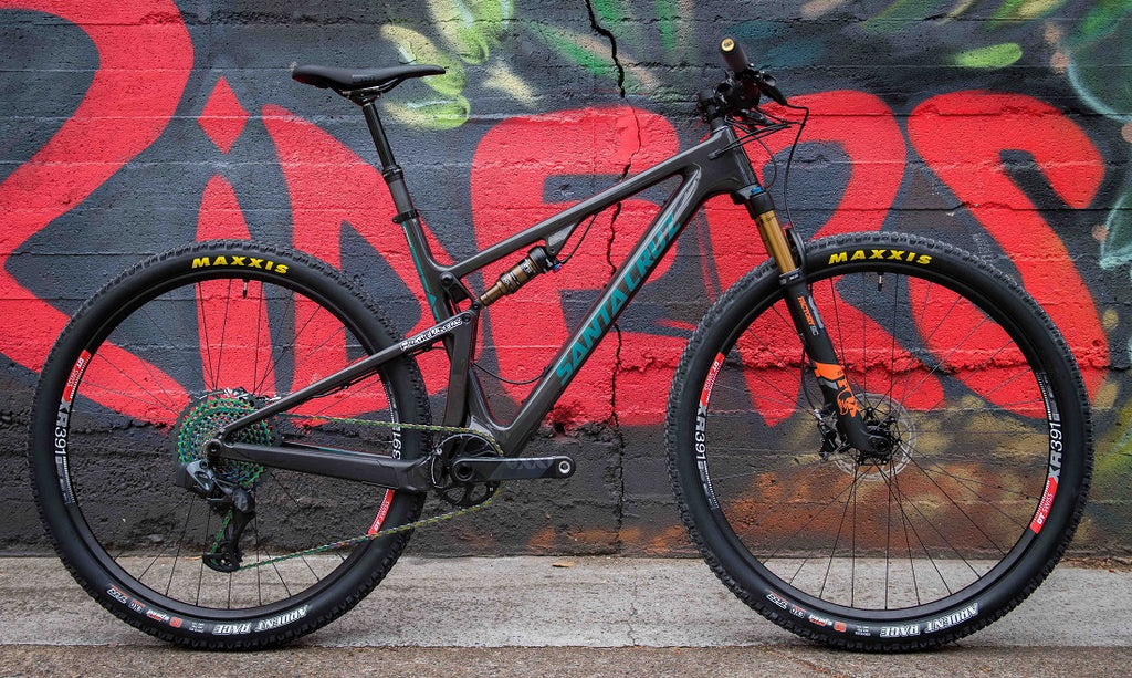 Santa Cruz Blur AXS custom bike For The Riders Brisbane mountain bike store